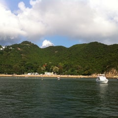 Photo taken at South Bay Beach 南灣泳灘 by raf s. on 6/5/2011
