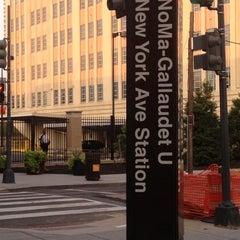 Photo taken at NoMa-Gallaudet U Metro Station by Lawren C. on 8/17/2012