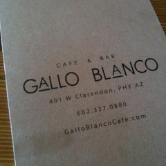 Photo taken at Gallo Blanco Cafe by Jeff M. on 1/7/2012