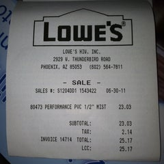 Photo taken at Lowe's Home Improvement by Freddy C. on 7/1/2011