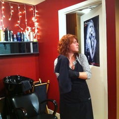 Photo taken at Addiction Salon by Suzanne K. on 11/23/2011