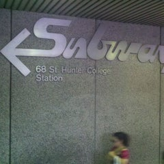 Photo taken at MTA Subway - 68th St/Hunter College (6) by Glen G. on 9/14/2011