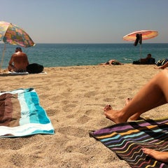 Photo taken at Platja de Sant Simó by Carmn S. on 7/17/2012