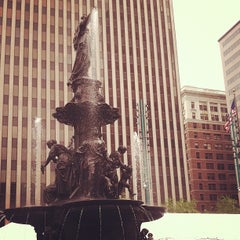 Photo taken at Fountain Square by Katie on 5/4/2012