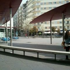 Photo taken at Praza Roxa by Susana P. on 3/16/2012