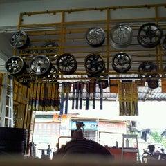 Photo taken at Bakti Pro Enterprise Kedai Tayar by W.m. Azha W. on 3/31/2012