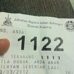 Photo taken at Pejabat Agama Islam Daerah Hulu Langat by Azrean R. on 3/23/2012