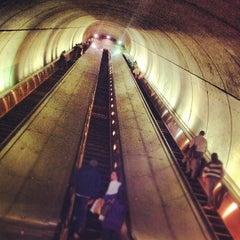 Photo taken at Woodley Park-Zoo/Adams Morgan Metro Station by Chanda H. on 5/1/2012