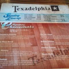 Photo taken at Texadelphia Sandwiches & Sports by Tanya on 11/10/2011