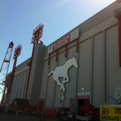 Photo taken at McMahon Stadium by Michael L. on 8/18/2012