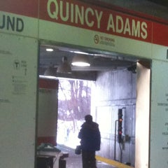 Photo taken at MBTA Quincy Adams Station by Emily S. on 1/19/2011