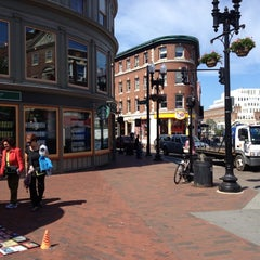 Photo taken at Harvard Square by Nate B. on 6/8/2012
