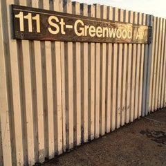 Photo taken at MTA Subway - 111th St/Greenwood Ave (A) by Tyler T. on 3/23/2012