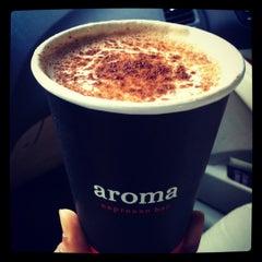 Photo taken at Aroma Espresso Bar by Bijal M. on 7/15/2012