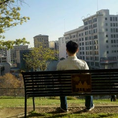 Photo taken at Tom Hansen's Bench (500 Days of Summer) by William G. on 12/27/2011