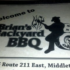 Photo taken at Brian's Backyard BBQ by Megan K. on 2/24/2012