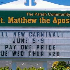 Photo taken at St. Matthew The Apostle  Church by Christine on 5/19/2012