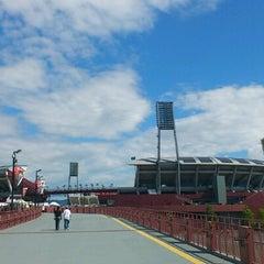 Photo taken at MAZDA Zoom-Zoom スタジアム広島 by mskz k. on 8/26/2012