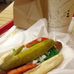 Photo taken at Vienna Beef Factory Store & Cafe by Toni S. on 7/11/2012