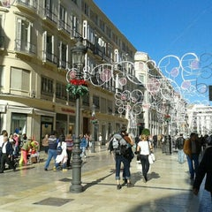 Photo taken at Calle Marqués de Larios by Raquel P. on 11/26/2011