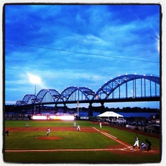 Photo taken at Modern Woodmen Park by Daniel S. on 5/9/2012