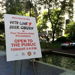 Photo taken at With Love Beer Garden at the Four Seasons Hotel Philadelphia by Mike B. on 6/6/2012