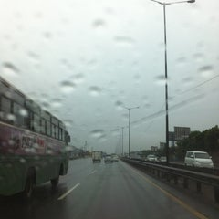 Photo taken at Gerbang Tol Pondok Gede Timur by Wenny A. on 1/14/2012