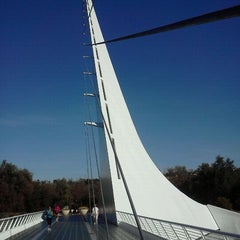 Photo taken at Sundial Bridge at Turtle Bay Exploration Park by TheSmak aka JD on 10/29/2011