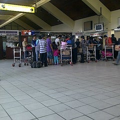 Photo taken at Supadio International Airport (PNK) by Shella M. on 9/8/2012