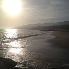 Photo taken at Will Rogers State Beach by Elle L. on 4/19/2012