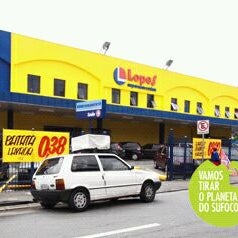 Photo taken at Lopes Supermercados by Lu M. on 3/31/2012