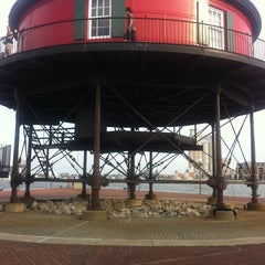 Photo taken at Seven Foot Knoll Lighthouse by Kelley Y. on 7/2/2011