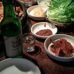 Photo taken at Chunchun Chicken Galbi by Jenny L. on 2/16/2012