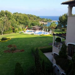 Photo taken at The St. Regis Mardavall Mallorca Resort by Victor B. on 5/19/2012