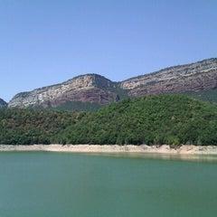 Photo taken at Pantà de Sau by Lourdes on 8/17/2012