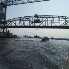 Photo taken at Duluth Lift Bridge by Steve L. on 8/11/2012