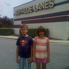 Photo taken at Buffaloe Lanes Cary Bowling Center by liz s. on 8/26/2011
