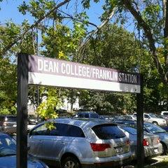 Photo taken at Franklin/Dean College MBTA Station by Martin M. on 8/27/2012