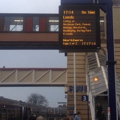 Photo taken at Harrogate Railway Station (HGT) by Jason S. on 3/15/2012
