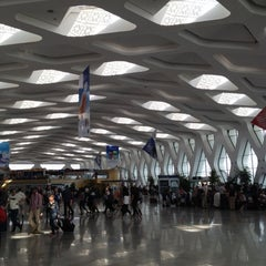 Photo taken at Aéroport de Marrakech Ménara | مطار مراكش المنارة‎  (RAK) by Ambra N. on 4/22/2012