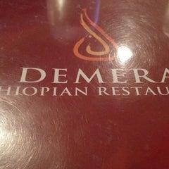 Photo taken at Demera Ethiopian Restaurant by 898989 8. on 6/5/2012