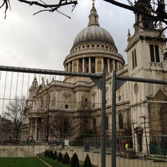 Photo taken at St Paul's Churchyard by Rob M. on 1/12/2012