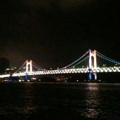Photo taken at 남천해변 벽화거리 by Jenny K. on 8/1/2011