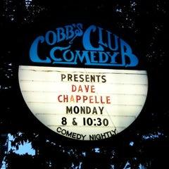 Photo taken at Cobb's Comedy Club by Brad C. on 4/19/2011