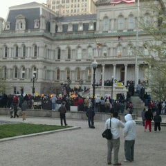 Photo taken at Baltimore City Hall by Ant B. on 3/26/2012