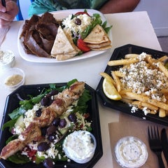 Photo taken at Souvlaki Fast by Sunny P. on 7/26/2012