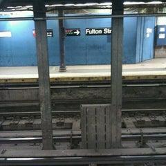 Photo taken at MTA Subway - Fulton St (A/C/J/Z/2/3/4/5) by Maurice♂ W. on 4/11/2011