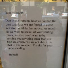 Photo taken at Bobtail Ice Cream Company by Marc E. on 6/30/2012