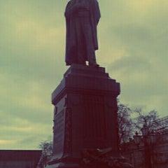 Photo taken at Памятник А. С. Пушкину by Борис С. on 3/28/2012