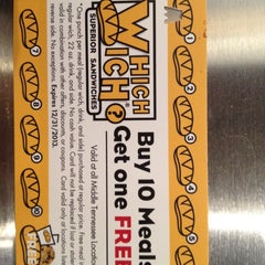 Photo taken at Which Wich? Superior Sandwiches by Christine B. on 4/19/2012